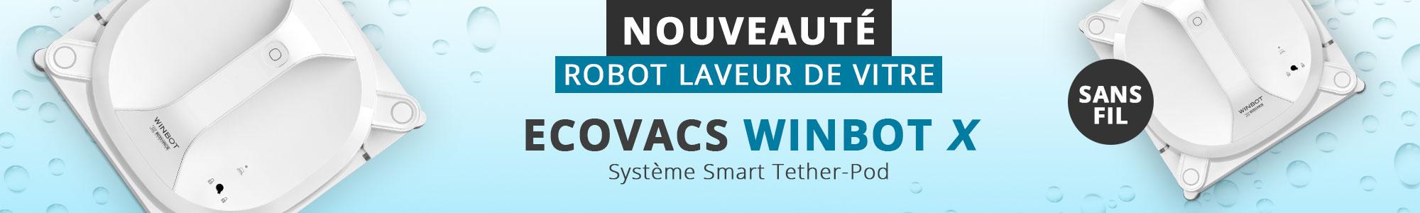 MEA robot laveur de vitre WINBOT X Ecovacs