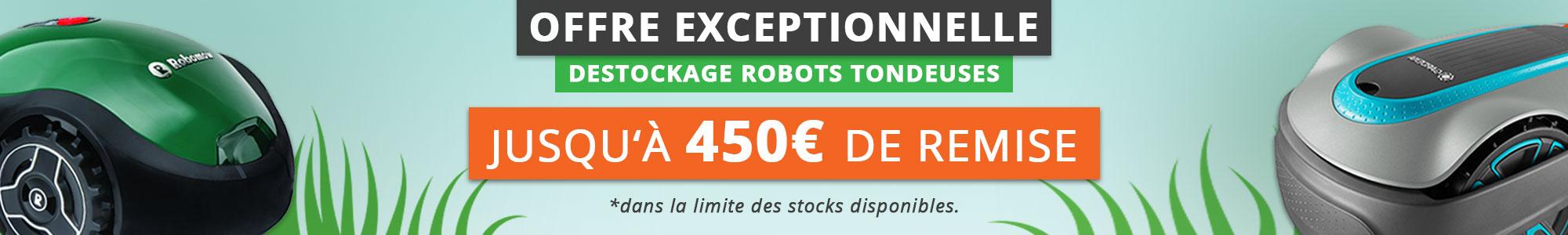 Offre exceptionnelle robots tondeuses 2018