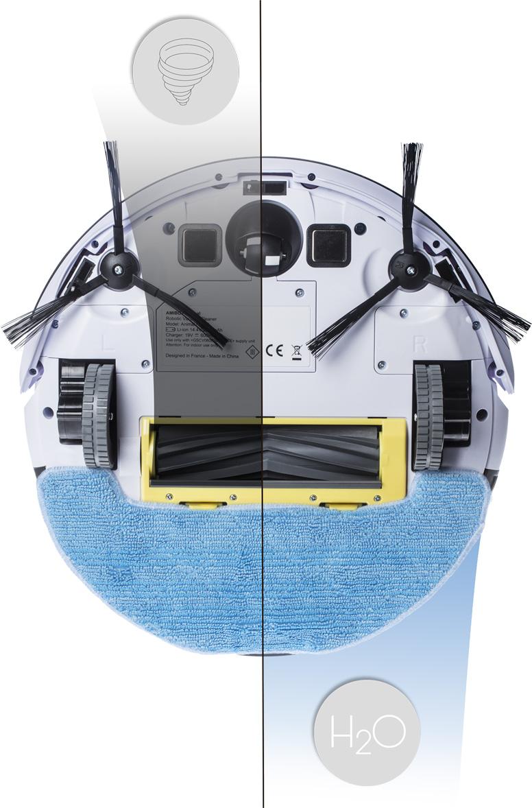 Robot aspirateur et laveur AMIBOT Animal H2O