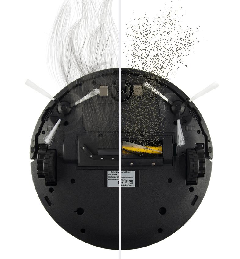 Robot aspirateur AMIBOT Flex H2O Connect brosse centrale et buse d'aspiration