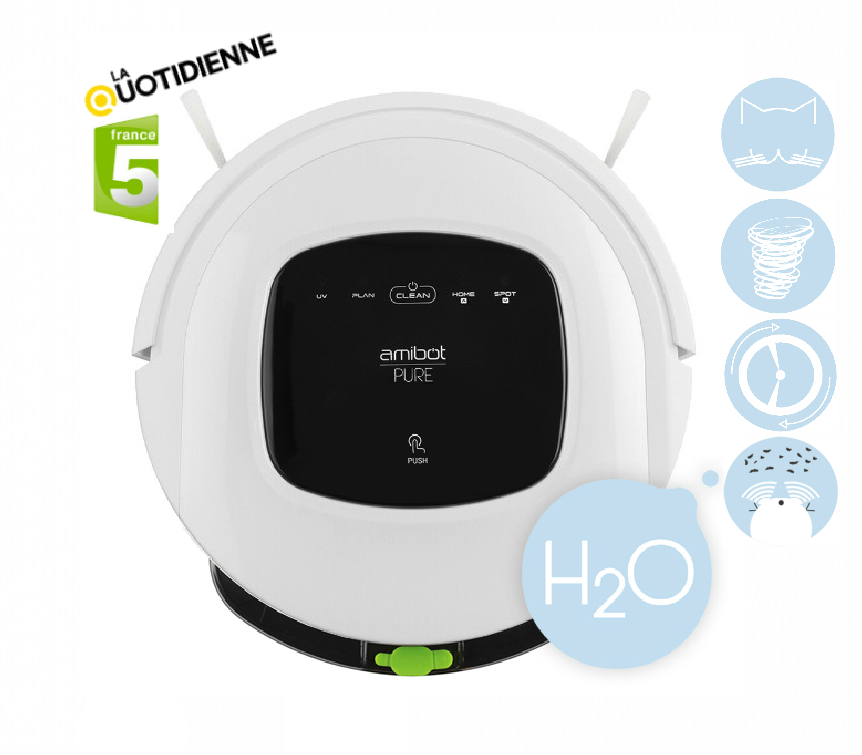 amibot pure h2o aspirateur robot boulanger. Black Bedroom Furniture Sets. Home Design Ideas