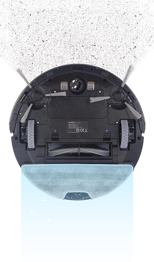 Robot aspirateur laveur AMIBOT Spirit Laser H2O double fonctions