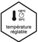 température réglable - amicook family one