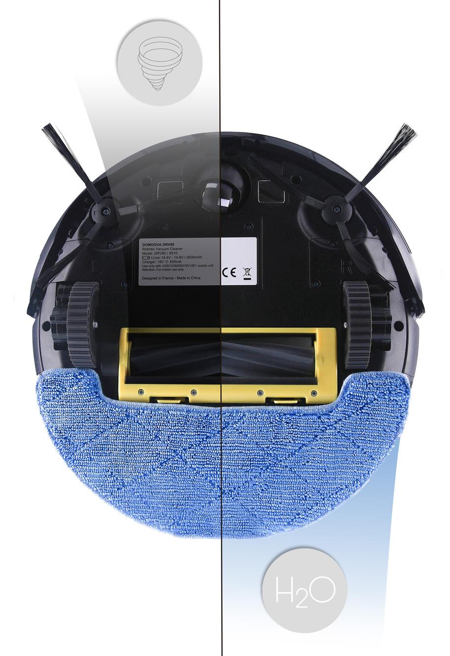 Robot aspirateur et laveur DOMOOVA DRV80 Animal BestofRobots
