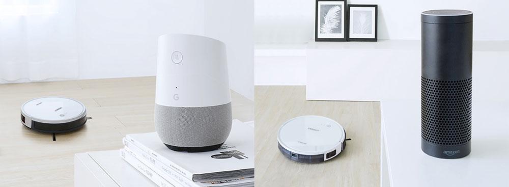Ecovacs DEEBOT 600 connecte amazon echo alexa google home
