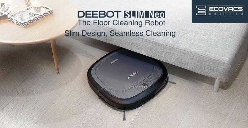 ecovacs robot aspirateur deebot slim 2 black achat aspirateur robot. Black Bedroom Furniture Sets. Home Design Ideas