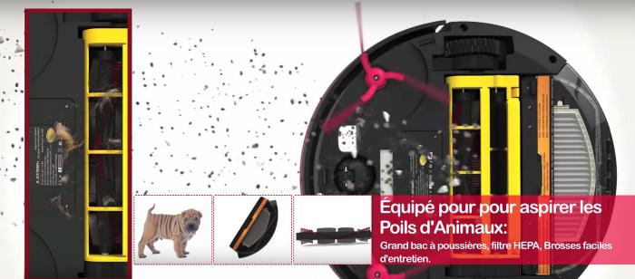 robot aspirateur - poils d'animaux