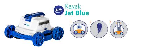 robot piscine kayak jet blue