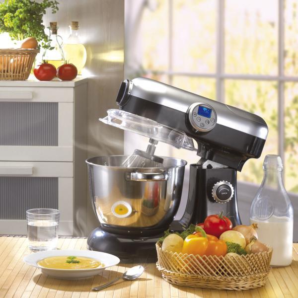 Robot multifonctions harper kitchencook revolution v2 noir bestofrobots - Robot de cuisine petrin ...