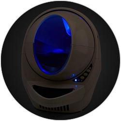 litière litter robot III open air nitelite moonglo