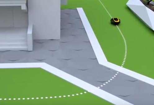 robot tondeuse - Gestion des passages étroits