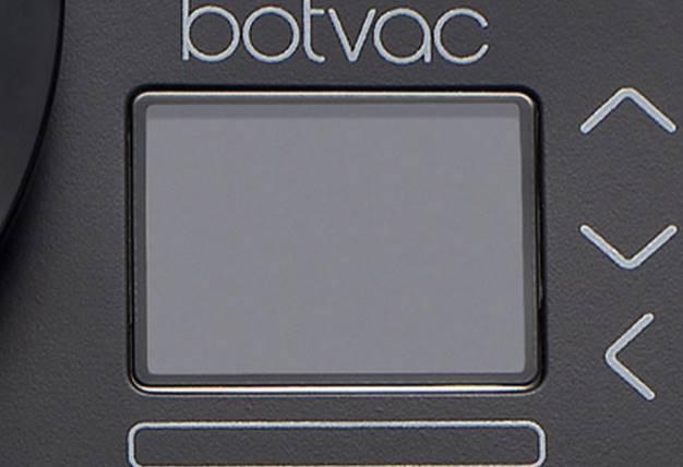 botvac d85 - écran de contrôle