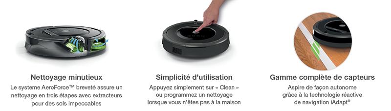 Fonctionnement Roomba 875 iRobot