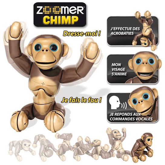 spinmaster zoomer chimp - robot jouet intéractif