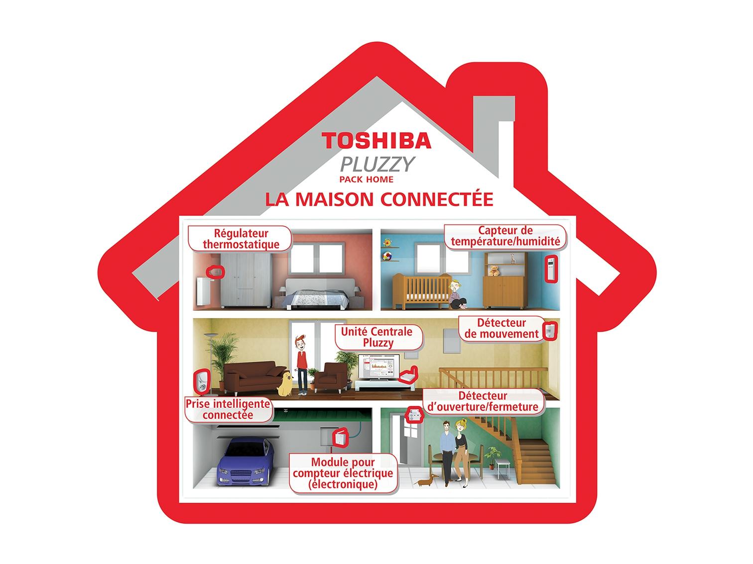 pack domotique home pluzzy toshiba bestofrobots. Black Bedroom Furniture Sets. Home Design Ideas