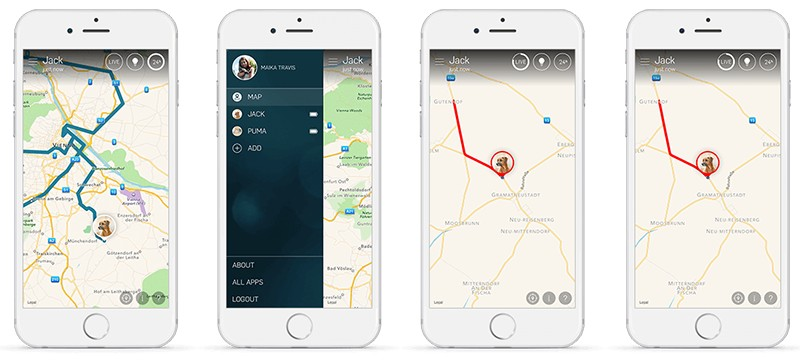 application gps tractive animaux